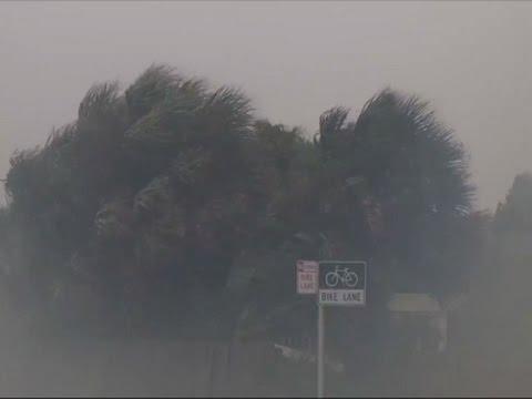 Raw: Tropical Storm Julia Pours Rain on Florida