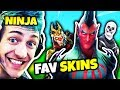 NINJA SHOWS ALL HIS FAVORITE SKINS | Fortnite Daily Funny Moments Ep.98