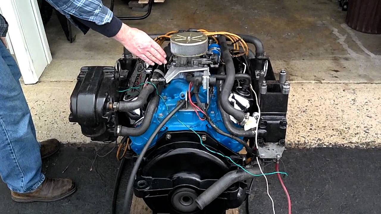 Merc ford 302 boat motor youtube