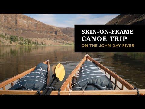John Day River trip in skin on frame canoes