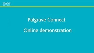 Palgrave Connect online demonstration