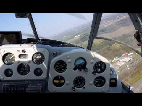 Saab 91D Safir PH-RLD landing at Seppe EHSE