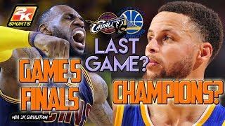 Cleveland Cavaliers VS Golden State Warriors - Game 5 - 2017 NBA Finals - NBA 2K17