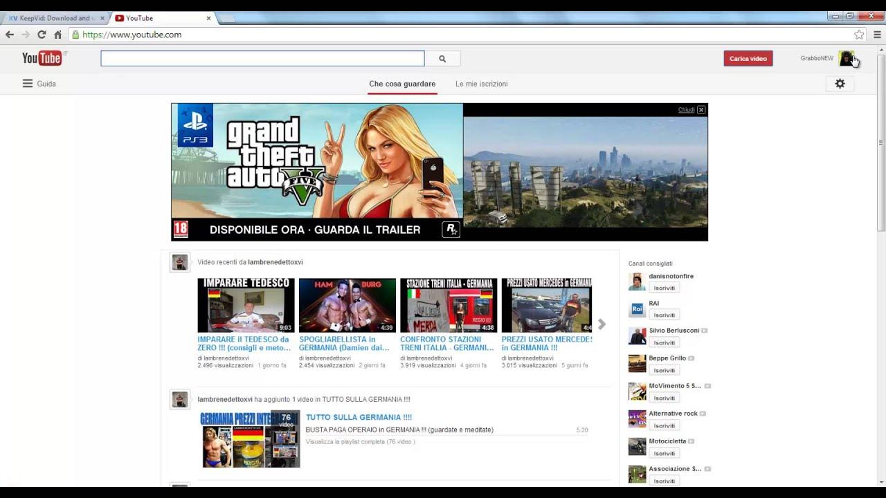 come scaricare video da youtube online gratis