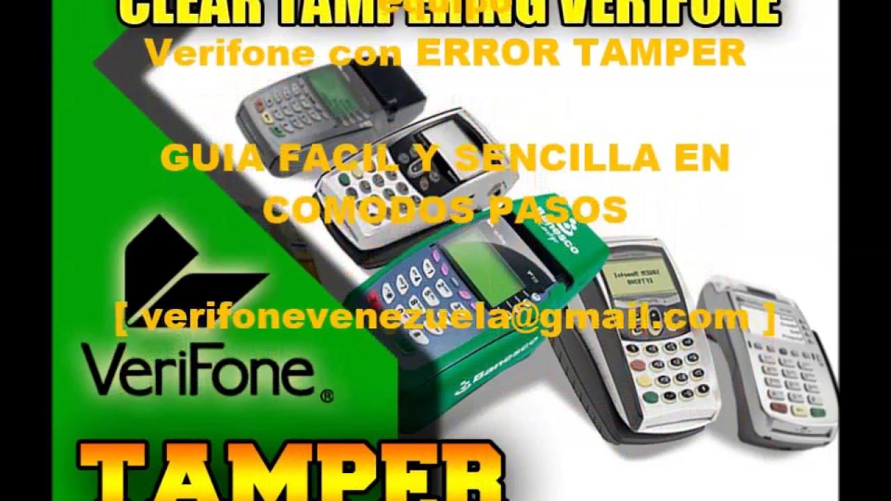 ELIMINAR ERROR TAMPER VERIFONE 100% REAL APLICATIVO Y LLAVE