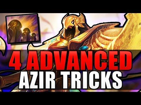 4 ADVANCED AZIR TRICKS - Azirsec Techniques - League of Legends