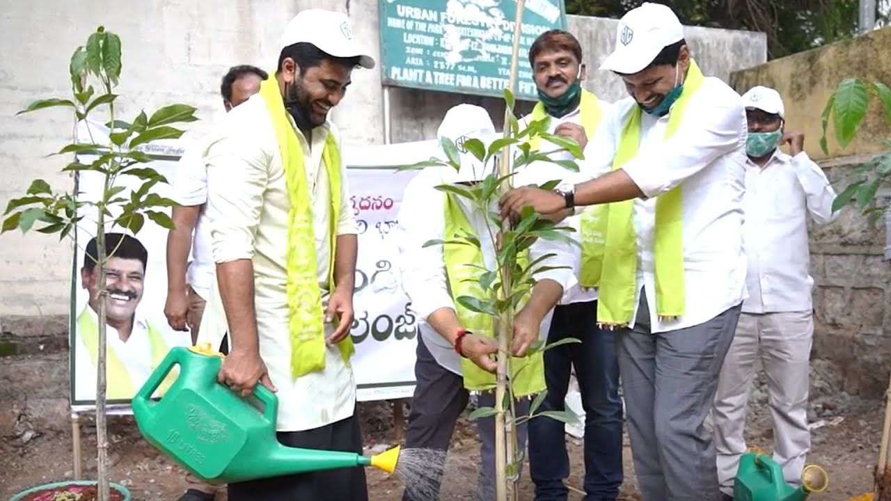 Hero Sharwanand Accepts Green India Challenge   Manastars