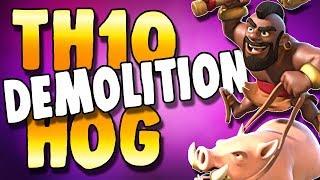 Hogs SMASHING Through Random Spins | TH10 Hog Strategies | Clash of Clans
