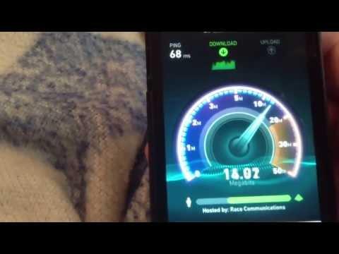 T-Mobile LTE speedtest (Los Angeles area)