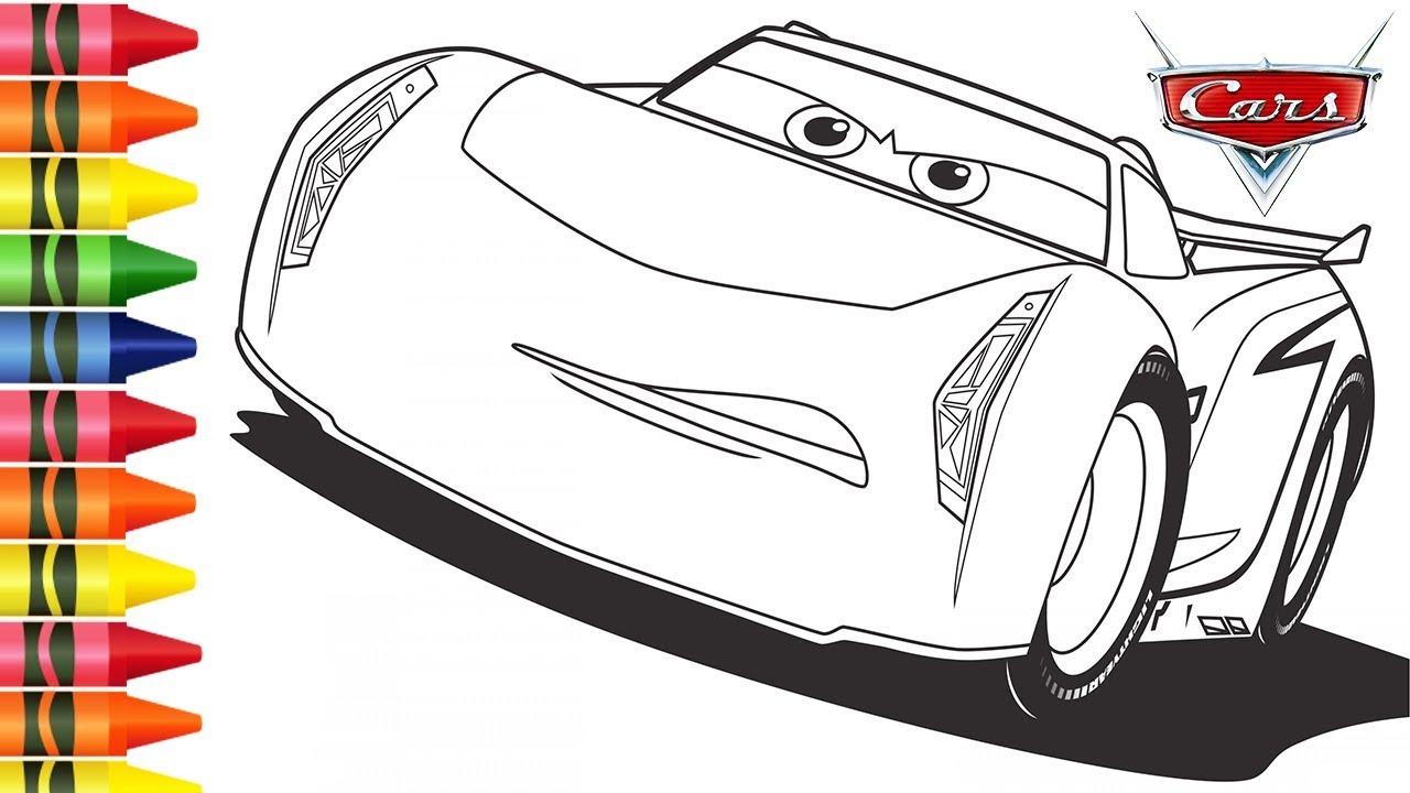 Colorir Carros 3 Desenho Do Jackson Storm Desenhos Animados De