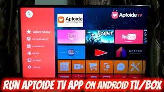 Install Aptoide TV App on Smart TV/Box