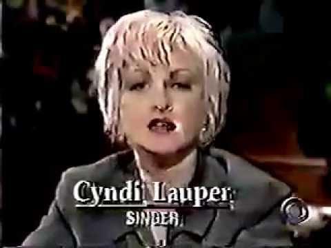 Cyndi on CBS Morning News show 1993 inrterview