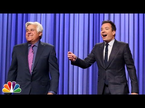 Jay Leno Tags In to Help Jimmy Tell Some Monologue Jokes in L.A.