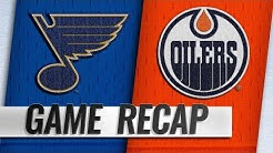 Blues score three in the 3rd to take down the Oilers