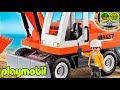 Excavadora PLAYMOBIL 6860. Gruas y máquinas para la construcción de juguetes para niños.