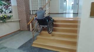 экстремальный спуск на коляске
