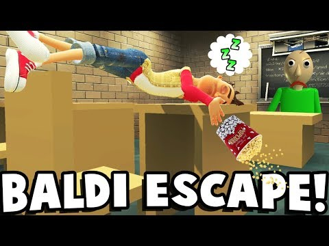 ESCAPE FROM BALDI'S SCHOOL? - Garry's Mod Gameplay (Gmod Roleplay) - Baldi's School Survival