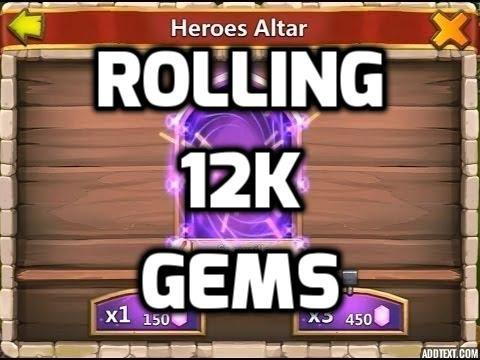 Castle Clash Legendary Hero Card And Rolling 12k Gems