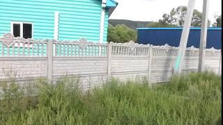 Декоративный забор из бетона(Секционный , 1.5 м высоты забор с гарантией на 2 года., 2015-10-13T00:14:45.000Z)