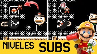 CUANDO TE PINCHAS A UN DEDO DEL FINAL 😱 | NIVELES DE SUBS #3 - Super Mario Maker 2 - ZetaSSJ
