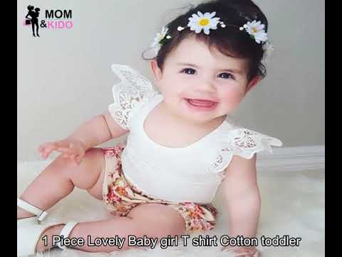 257912f7 1 Piece Lovely Baby girl T shirt Cotton toddler - YouTube