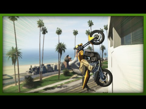 GTA 5 Funny Moments - Awesome Wallride Stunt! - (GTA V Stunts & Fails)