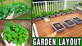 Garden Update 1 This Years Layout + New Stuff Raised Bed Square Foot Gardening How To Build