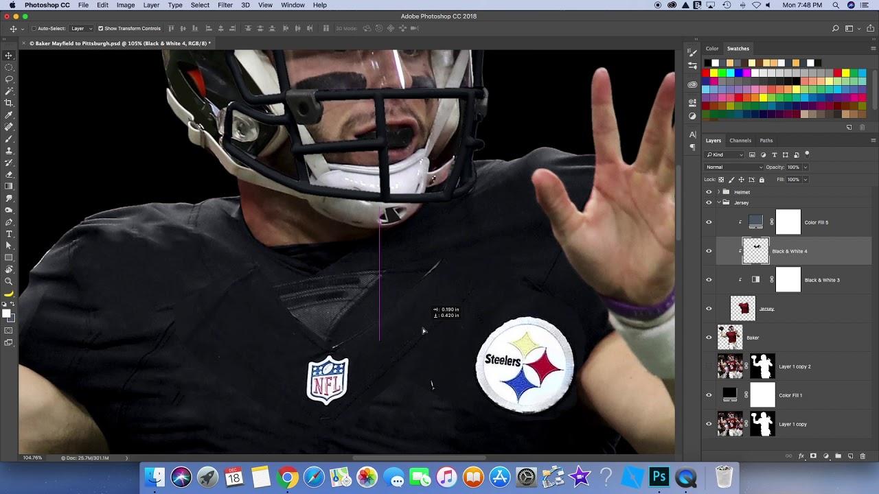 online store 3ac39 dddf8 Baker Mayfield Jersey Swap- Pittsburgh Steelers
