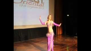 Sandra Oriental dance- Bihinn- Wael Kfoury- Concours Ouest Oriental