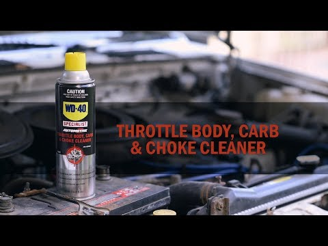 Throttle Body, Carb & Choke Cleaner - WD-40 Specialist Automotive Range