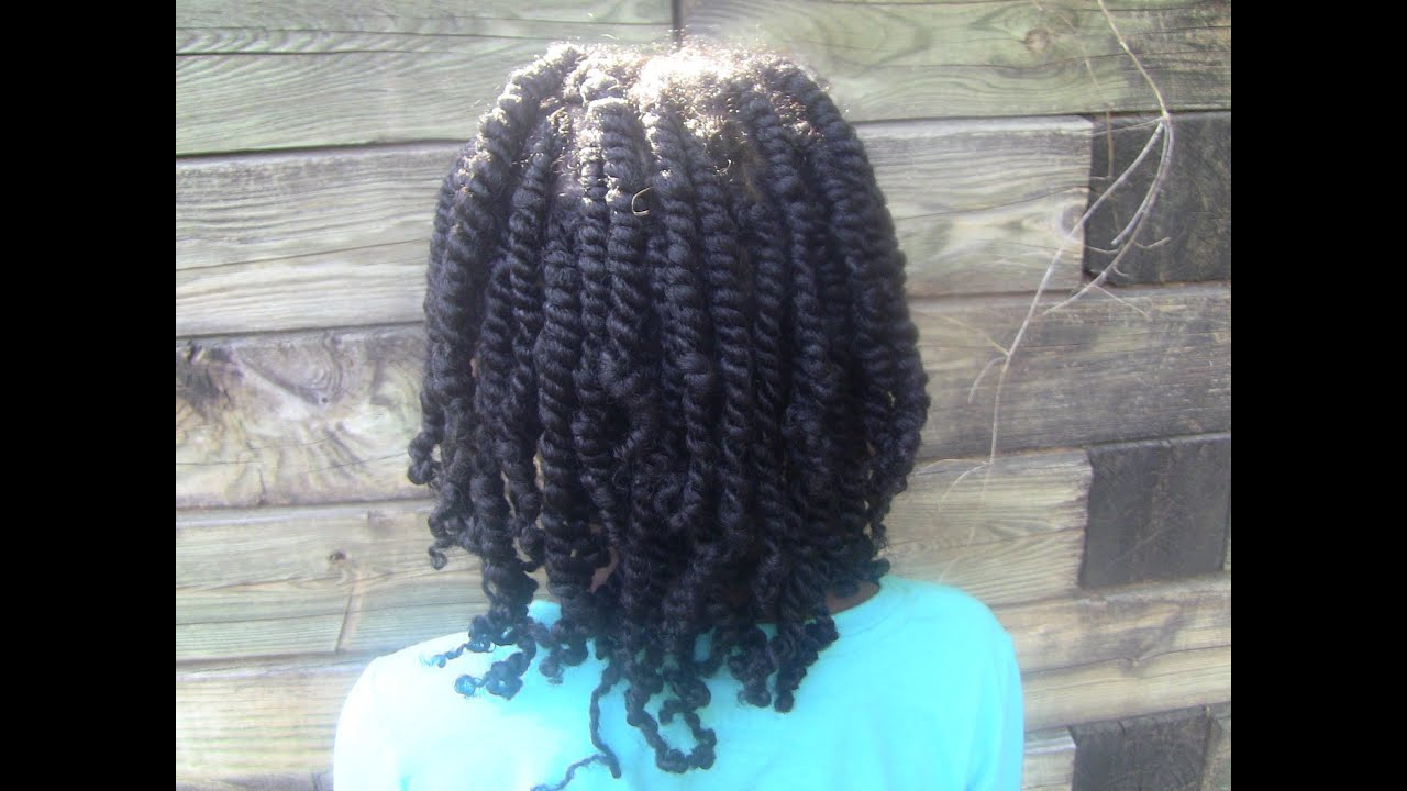 two strand twists. care