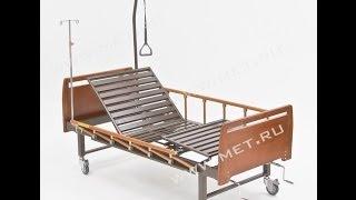 Медицинская кровать с туалетом F-43 WOOD(Ознакомиться с техническими характеристиками можно на нашем сайте http://www.met.ru/goods/4024/ Кровать медицинская..., 2013-12-25T05:26:35.000Z)