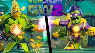 Зомби против Растений видео для детей битва с Боссами часть 2 в смешной игре Plants vs Zombies GW 2