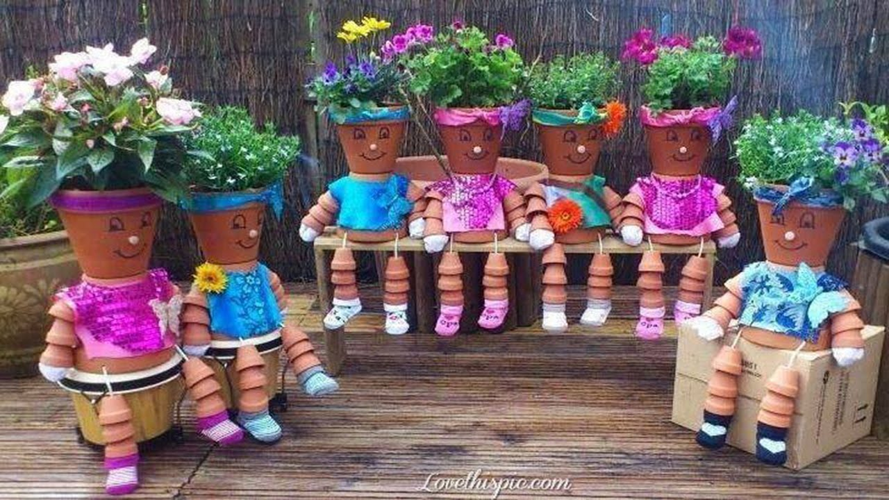 clay pot flower people youtube