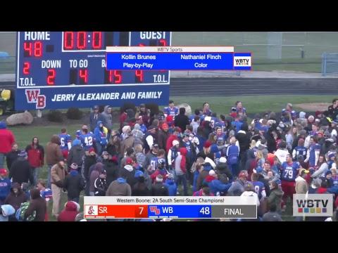 #1 Western Boone vs #9 Southridge Varsity Football 11-17-18 (Semi-State)