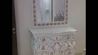Interior Kamar Tidur Modern Cat Duco Kombinasi Emas Mewah / 082331583274