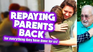 Repaying parents back for everything | Paying off debt & Mortgage to mom surprise | Dads dream car!