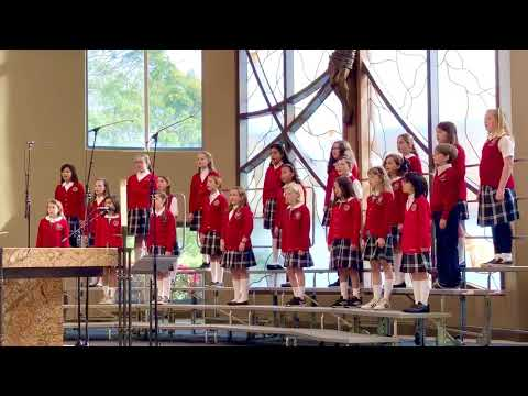 """Mission Basilica School Elementary Choir singing """"Sing We Nowell"""" written by Terry D Taylor."""