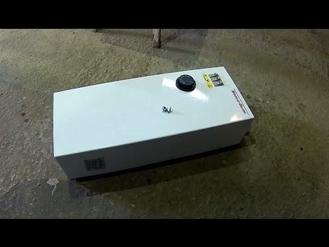 Электрокотел ЭВПМ 4,5. Потроха. Отопление гаража. Часть 2. Heating the garage. Part 2.