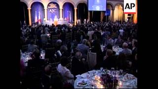 Peres speaks at  dinner with Bush, Fox at American Jewish Committee