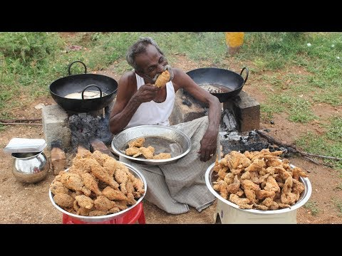 Thumbnail: KFC Chicken / 100 Legs / 100 Wings / Prepared by my DADDY / Village food factory