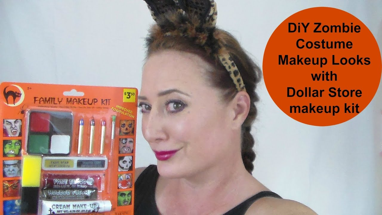 DiY zombie look with a dollar store kit: featuring The Mancub ...