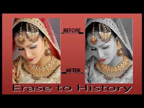 how-to-use-erase-to-history-in-photoshop-in-hindi