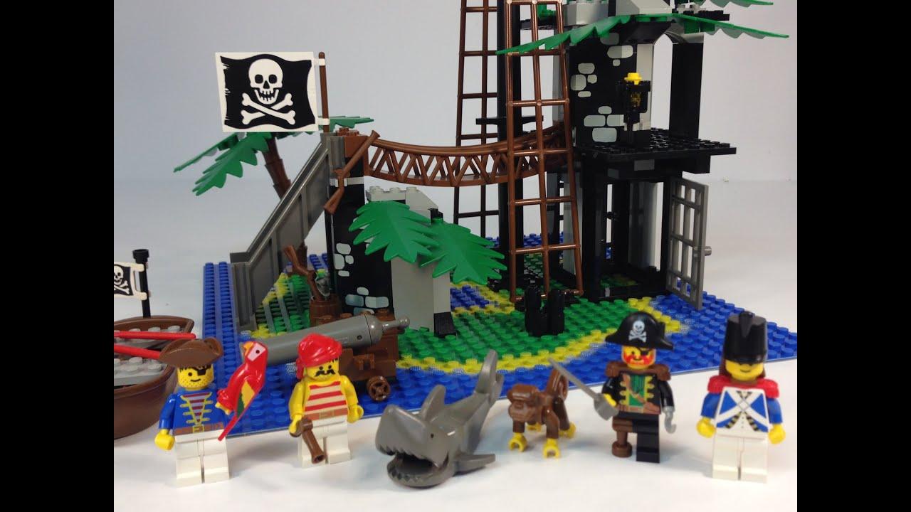 Lego pirates 6270 forbidden island legoland pirate system from 1989 youtube - Ile pirate lego ...