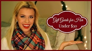 Gift Guide for Her ❄ Under $30 { Vlogmas Day 16 } Thumbnail