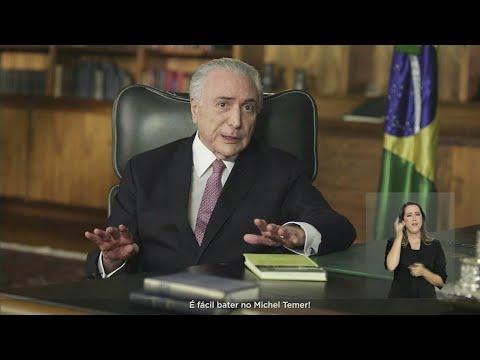 'É fácil bater no Michel Temer', diz presidente em pronunciamento | SBT Notícias (21/04/18)