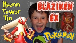 Pokemon Blaziken EX Hoenn Power Tin - REVEAL THE CODE CARDS!