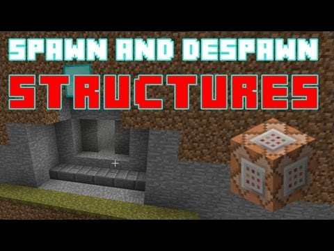 Spawn and Despawn Structures using Command Blocks - Minecraft Tips and Tricks