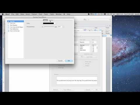 How to Apply Shading to Text in Microsoft Word : Microsoft Office & Photoshop