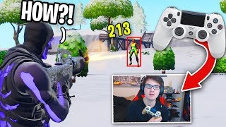 I Tried using CONTROLLER for the first time... (aim assist = aimbot on Fortnite?)